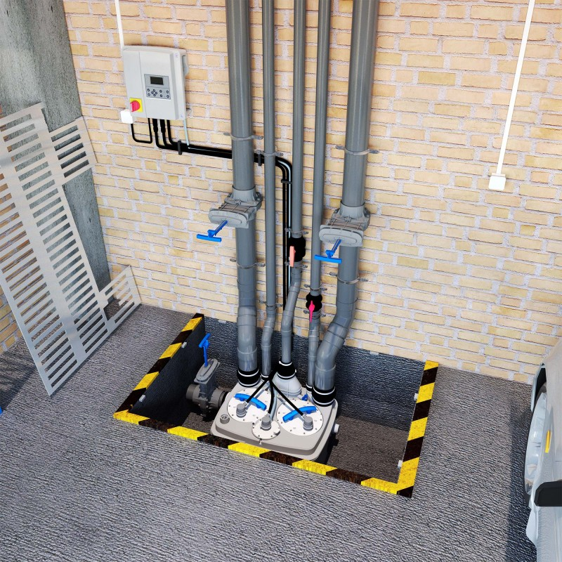SANICUBIC Pro –Floor Standing Wastewater Removal Station