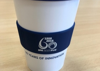 Saniflo issues special edition coffee cup as part of 60 years of innovation celebrations